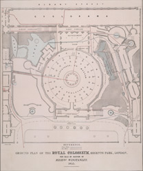 Ground plan of the Royal Colosseum, Regents Park, London